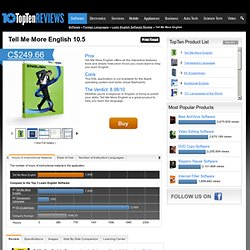 Tell Me More English 2011 - TopTenREVIEWS