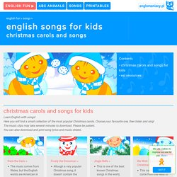 Christmas carols for ESL kids
