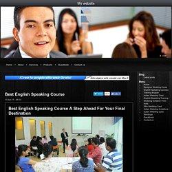 Best English Speaking Course - My website