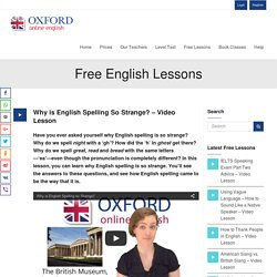 Why is English Spelling So Strange? - Video Lesson