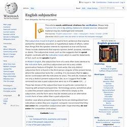English subjunctive