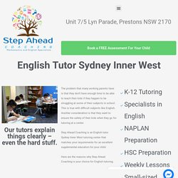 English Tutor Sydney Inner West