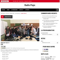 English Talk #1 – Radio Peps