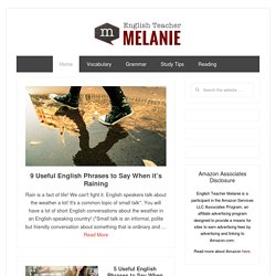 English Teacher Melanie