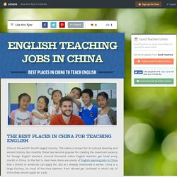 Best Places in China to Teach English