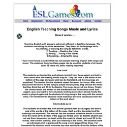 English Teaching Songs for ESL / EFL Music and Song Lyrics