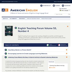 English Teaching Forum Volume 53, Number 4