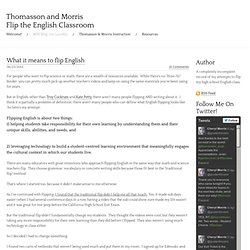 What it means to flip English - Morris Flips the English Classroom