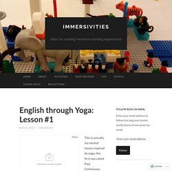 English through Yoga: Lesson #1