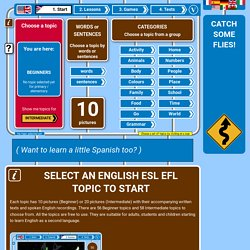 Select a free English topic from the 100+ topics available