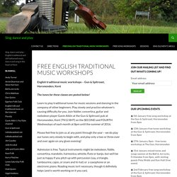 Free English Traditional Music Workshops