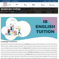 IB English Tuition - Baccalaureate Classes