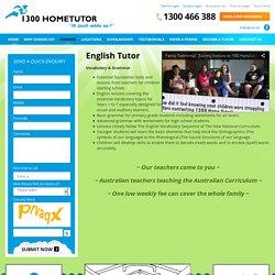 English Tutoring at 1300 HomeTutor