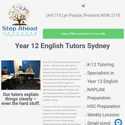 Year 12 English Tutors Sydney