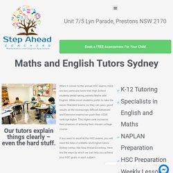 Maths and English Tutors Sydney