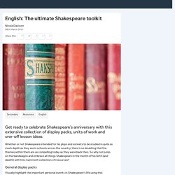 English: The ultimate Shakespeare toolkit