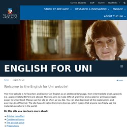 Welcome to the English for Uni Website!