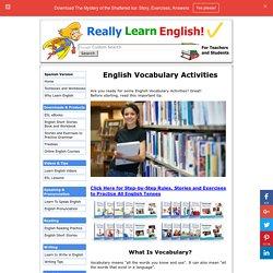 English Vocabulary Activities
