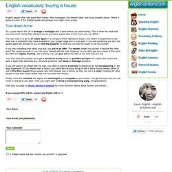 English Vocabulary: Buying a House
