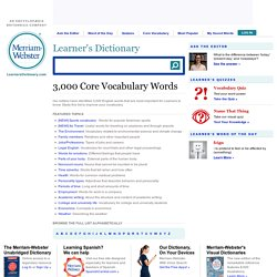 3,000 Core English Vocabulary Words