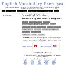English Vocabulary Exercises