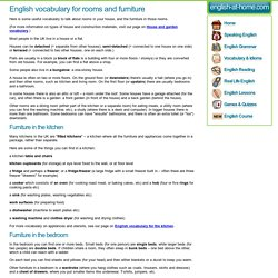English vocabulary for rooms and furniture