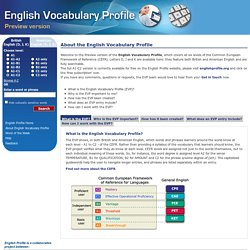 English Vocabulary Profile
