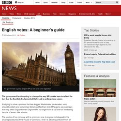 English votes: What's going on? - BBC News