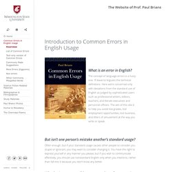 Common Errors in English Usage and More