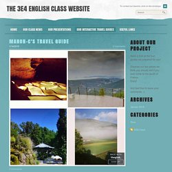 The 3e4 English class website - Our interactive travel guides
