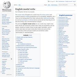 English modal verbs