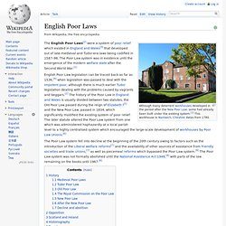English Poor Laws