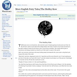 More English Fairy Tales/The Hedley Kow - Wikisource, the free online library
