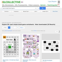 English ESL past simple board game worksheets - Most downloaded (35 Results)