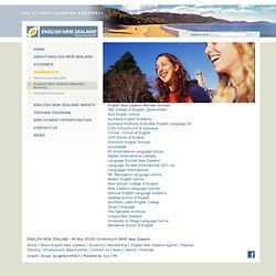 English New Zealand member language schools | English New Zealand