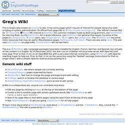 EnglishFrontPage - Greg's Wiki