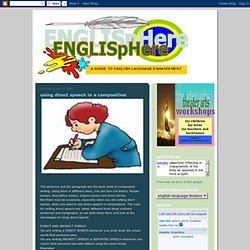 "direct speech in composition Free reported speech worksheets busyteacherorg says, ""we've got 195 reported speech worksheets just for you"" and once you've tried some of them in your classroom, we're sure you'll agree with thousands of other teachers all over the world, who've said, ""busyteacherorg is a great site for esl resources."