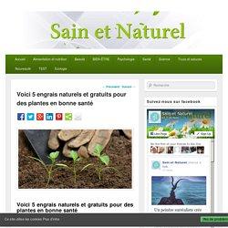 Voici 5 engrais naturels et gratuits pour des plantes en bonne santé