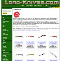 Engraved Buck Knives With Your LOGO Make Excellent Employee Buck Service Award Knives