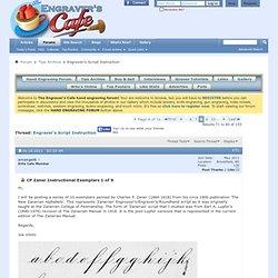 Engraver's Script Instruction