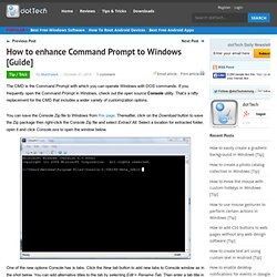 How to enhance Command Prompt to Windows