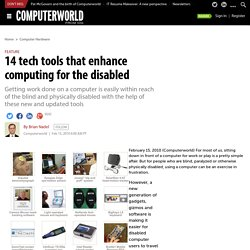 14 tech tools that enhance computing for the disabled