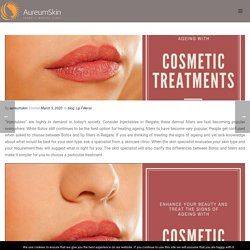 Enhance Your Beauty & Treat the Signs of Ageing with Cosmetic Treatments