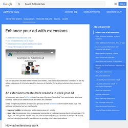 Enhance your ad with extensions - AdWords Help
