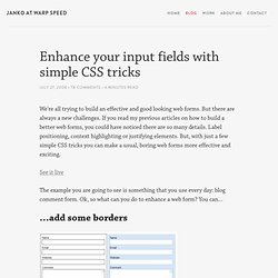 Enhance your input fields with simple CSS tricks