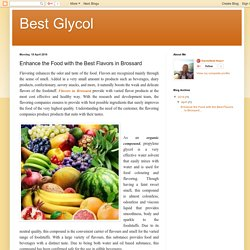 Best Glycol: Enhance the Food with the Best Flavors in Brossard