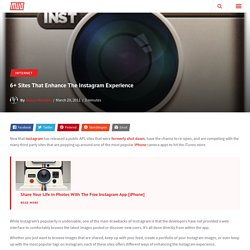 6+ Sites That Enhance The Instagram Experience