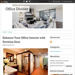 Enhance Your Office Interior with Partition Door - Office Divider