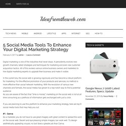 5 Social Media Tools To Enhance Your Digital Marketing Strategy - IFTW