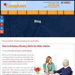 How to Enhance Memory Skills for Older Adults